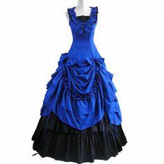 Victorian Prom Dress Southern Belle Ball Gown Reenactment Theater Costume Lolita #Wraithofeast #Dress