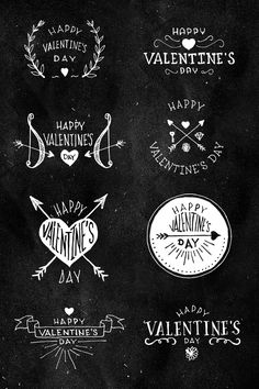 8 Handmade Valentines Insignias  by Trendgraphy