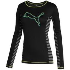 PUMA Perform Soccer Graphic L/S Shirt - Women's - Sport Inspired - Clothing - Black
