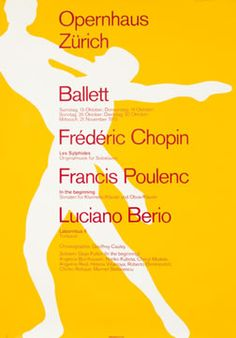 Josef Muller-Brockmann, Opernhaus Zurich Ballett, 1973