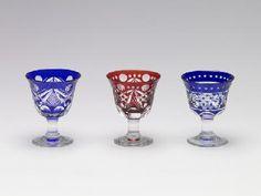 Edo Kiriko glass.
