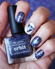 Hello Galaxy nails. I love how they did this. My fave is the white nail though that takes some precision. #nails #style