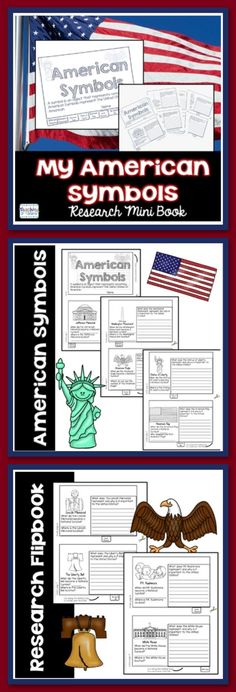 American Symbols Research Mini Flip Book is a flip book that students can use to collect their research about important American Symbols.  Symbols included are:  Jefferson Memorial Washington Monument American Eagle Statue of Liberty American Flag Lincoln Memorial Liberty Bell Mt. Rushmore  White House