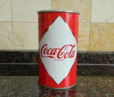 1960 coca cola coke vintage Canada 1st generation diamond flat top soda can  | eBay