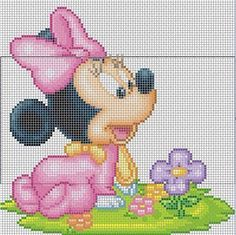 Discover thousands of images about Alleen Minnie 61 breed 89 hoog incl achtergrond 105 breed 99 hoog Disney Stitch, Graph Crochet, Crochet Diagram, Cross Stitch For Kids, Cross Stitch Baby, Cross Stitch Designs, Cross Stitch Patterns, Loom Patterns, Crochet Patterns