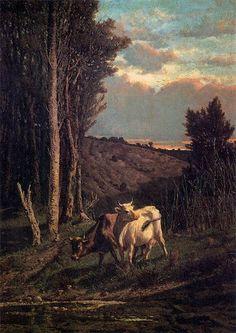 Tivoli, Serafino de, (1826-1892), A Pasture, 1859, Oil