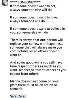 There is always someone to replace