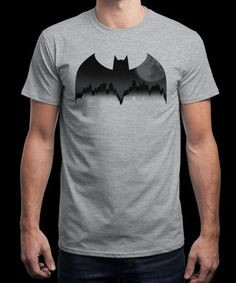"""""""Gotham Night"""" is today's £8/€10/$12 tee for 24 hours only on www.Qwertee.com Pin this for a chance to win a FREE TEE this weekend. Follow us on pinterest.com/qwertee for a second! Thanks:)"""