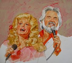 Its Country - 8 Dolly Parton Kenny Rogers Painting by Cliff Spohn Country Musicians, Country Artists, Country Singers, Play That Funky Music, Kinds Of Music, Dolly Parton Kenny Rogers, City Folk, Thing 1, Fine Art America