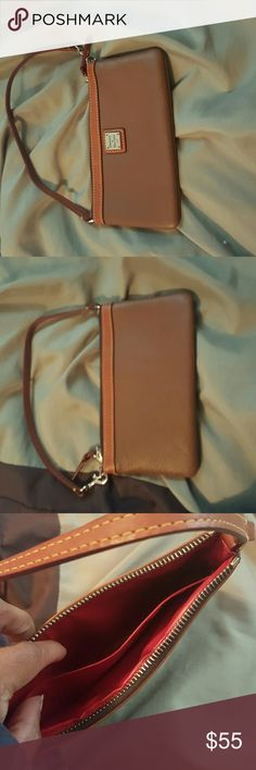 brown wristlet Dooney and Bourke leather wristlet Dooney & Bourke Bags Clutches & Wristlets