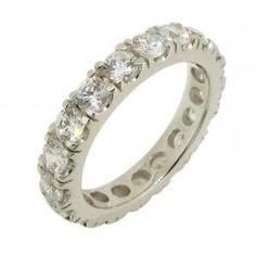 Eternityring, silver, 0,25ct diamantsimulanter