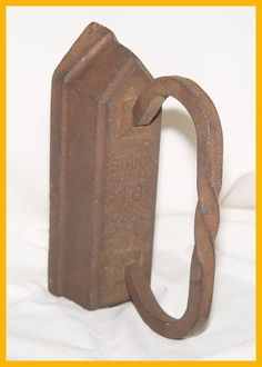 Sad Iron - 16 Pounds -  a great door stop, garden ornament, or flower press!