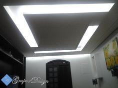 Dois rasgos em L Simple Ceiling Design, False Ceiling Design, Gypsum, Drywall, Tv Unit, Office Interiors, Plaster, Shower Tiles, Interior Design