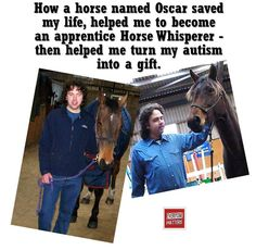 """My name is Charlie Avent. I have a special gift called Autism. This is my true story of how a horse named Oscar saved my life, helped me to become an apprentice Horse Whisperer then helped me to turn my Autism into a gift.""  ""Before I discovered horses, I was suicidal, hysterical, upset and depressed by the bullying.... #Horse #Bully #Bullying #Autism #EveryoneMatters"
