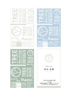 TREE_Name card | Beauty salon graphic design ideas | Follow us on…