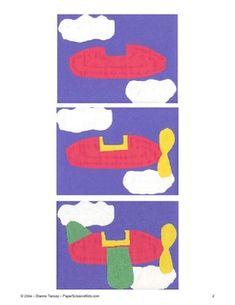 Downloadable Airplane Cut and Paste Art Project Pattern Packet - Dianne Tansey - TeachersPayTeachers.com
