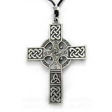 Large Cross Celtic Knotwork Jewelry Necklace Knot Pendant Christian Catholic