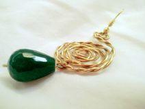 orecchini wire green spiral