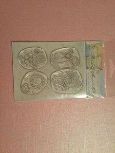 Clear Stamp By Stampavie Rachelle Anne Miller Dream Flowers Rubber Stamp