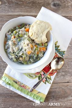Creamy Chicken Pot Pie Soup, so good you won't even miss the crust   Vibrant Life Army Wife #paleo #glutenfree