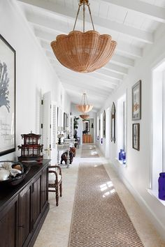 Beach House hallway in the Bahamas in Hallway Ideas from HOUSE - design, food and travel by House & Garden. A beach house with a British sensibility and interiors that are not 'too beachy'.