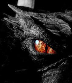 "bagginshield: "" pictures from the Hobbit trilogy "" Smaug Dragon, Fire Dragon, Fantasy World, Fantasy Art, Dragon Eye Drawing, Dragon's Dogma, Arte Ninja, Bagginshield, Dragon Artwork"