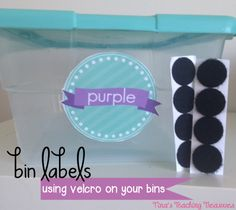 If you are anything like me, you have a bit of committment fear when it comes to labelling bins.  What if I want to change bins? What if I get more of something and need a bigger bin for that label? What if I change classroom decor? Well, fear no more- velcro is your new best friend!