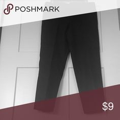 """Banana Republic martin fit stretch black trouser 8 Gently worn Banana Republic the martin fit black trouser pants.   Classic quality and style.  57% cotton; 39% modal; 4% Lycra.  Made in the Philippines. Machine wash cold, tumble dry.  Cool iron.  ...or dry clean.16 across waistline;  19 across hip line;  25.5 crotch seam to bottom of pant cuff.  1.5"""" cuff at bottom of pant leg.  2 1/2 front pockets; 2 full back pockets.   Great with a belt and a crisp white oxford, or t-shirt, and flats…"""