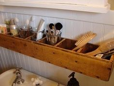 When I have the space one day. I'll get Dad to make these with me for above the bathroom sink