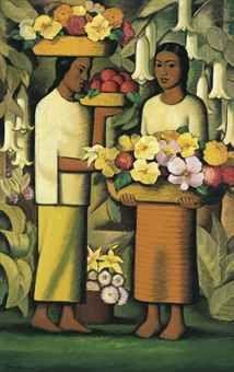 Mujeres con flores