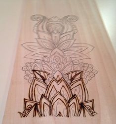 Coloring+Book+Patterns+on+Wood - Woodburning of coloring book page