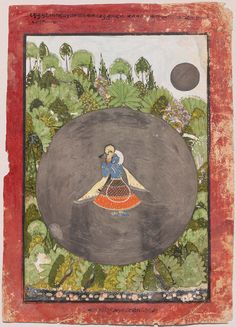 Krishna Plays His Flute in the Moonlight | Museum of Fine Arts, Boston