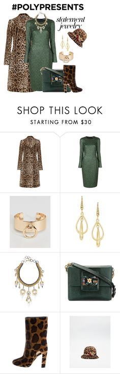 """""""#PolyPresents: Statement Jewelry"""" by georgine-d ❤ liked on Polyvore featuring Dolce&Gabbana, DesignB London, Laundry by Shelli Segal, Erickson Beamon, contestentry and polyPresents"""