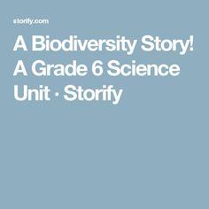 A Biodiversity Story! A Grade 6 Science Unit · Storify
