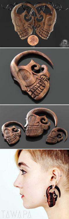 Ebony wood sugar skulls