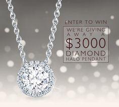 Enter to win a $3000 Diamond Halo Pendant!  http://virl.io/KSZYvwp