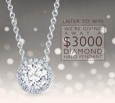 Enter to win a $3000 Diamond Halo Pendant!  http://virl.io/KSZYvwp