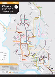 Dhaka bus map - nice clean design