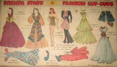 Brenda Starr Paper Doll from Dale Messick Series  for Chicago Tribune Syndicate  1942 Autumn Formals