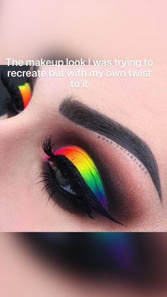 Rave Eye Makeup, Rainbow Eye Makeup, Bright Eye Makeup, Dramatic Eye Makeup, Makeup Eye Looks, Colorful Eye Makeup, Eye Makeup Art, Blue Makeup, Eyeshadow Makeup