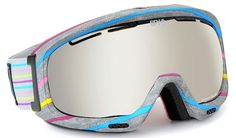 Funky Grey Marl Ski Goggles  Spy Optic Bias Ski Goggles - Candy Coated / Bronze w/Silver Mirror