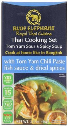 Blue Elephant Royal Thai Cuisine Thai Cooking Set Tom Yam Soup, 3.1 Ounce (Pack of 6) ** Read more by clicking on the image  at Easy Dinner Meals board