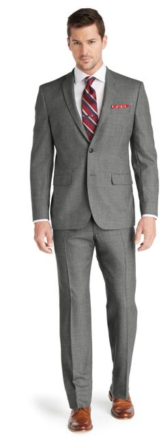 1905 Slim Fit 2-Button Wool Suit with Plain Front Trousers Big and Tall CLEARANCE