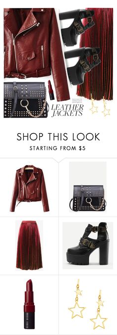 """""""leather jacket"""" by meyli-meyli ❤ liked on Polyvore featuring Christopher Kane, Bobbi Brown Cosmetics and leatherjackets"""