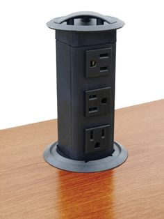 Power Pop-Up Station, Three Outlets, Plastic