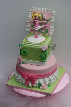 Music Box Ballerina Cake