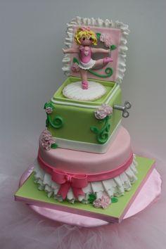 Music Box Ballerina Cake