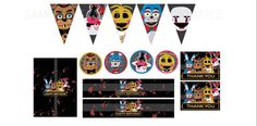 Five Nights at Freddy's Party Decorations by PapierasPrintables