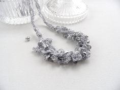 Crochet Necklace  Statement Necklace  Beaded от CraftsbySigita
