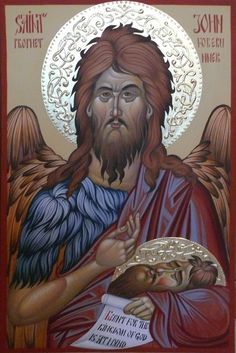 St. John the Forerunner, St John the Baptist, hand painted, Byzantine, orthodox icon,#iconography This beautiful hand painted icon created by Bulgarian artist Georgi Chimev.